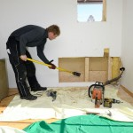Vorbereitung für Kaminhalterung ( Unterkonstruktion )