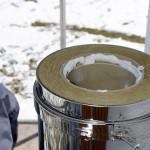 Einbringen der Fugenmase für die Rohrelemente