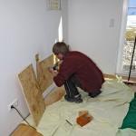 Verschliessen der Innenwand nach Einbringen von der Unterkonstruktion