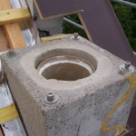 gemauerter Schornstein