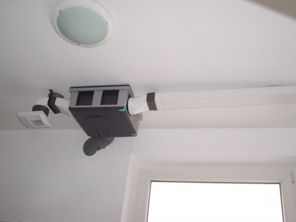 Luftverteilung unter einem Dachspitz