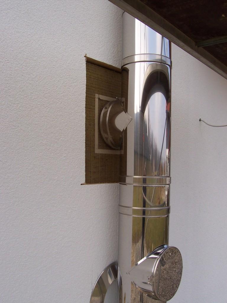Edelstahlschornstein Detail