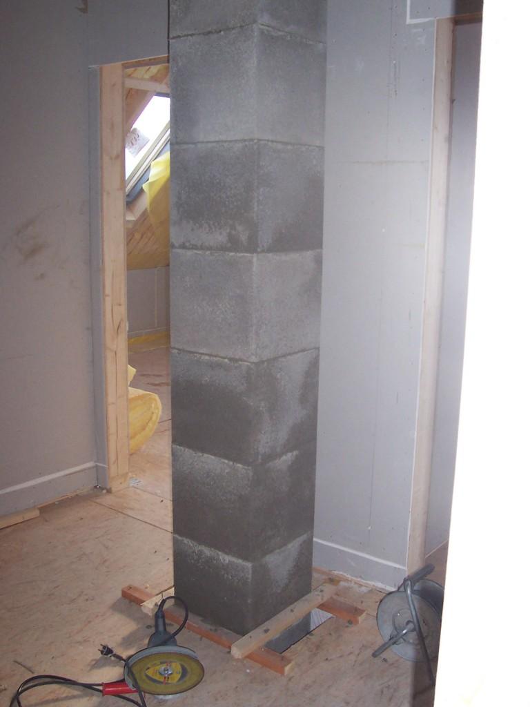 Keramikschornstein Ansicht von hinten