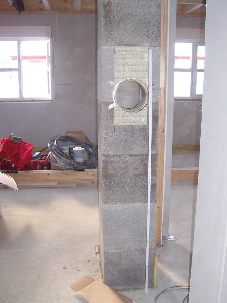 Keramikkamin mittig oder Schornstein